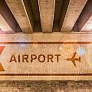 Airport Directions Art Print