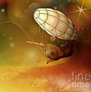 Airship Ethereal Journey Art Print by Bedros Awak