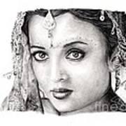 Aishwarya Rai Art Print by Rosalinda Markle