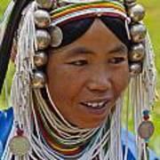 Akha Tribal Woman - Kengtung Burma Art Print