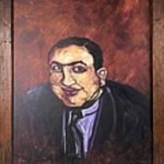 Al Capone Portrait Print by Jennifer Noren