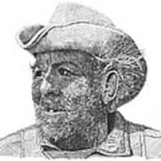 Cowboy Al Holman  Art Print
