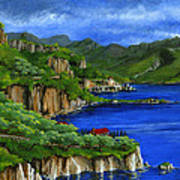 Al Mafi Coast Italy Art Print