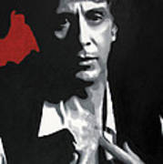 Al Pacino  Print by Luis Ludzska