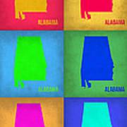 Alabama Pop Art Map 1 Art Print