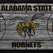 Alabama State Hornets Art Print