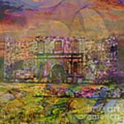 Alamo After The Fall - Square Version Art Print