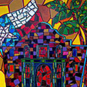 Alamo Mosaic Art Print