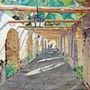 Alamo Walkway Art Print