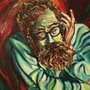 Alan Ginsberg Poet Philosopher Art Print