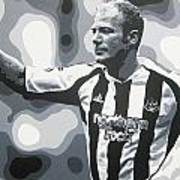 Alan Shearer - Newcastle United Fc Art Print