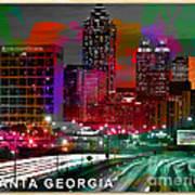 Alanta Georgia Skyline  Art Print