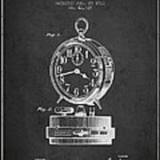 Alarm Clock Patent From 1911 - Dark Art Print