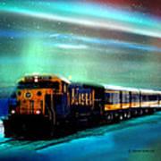 Alaska Aurora Train  # Da 080 Art Print