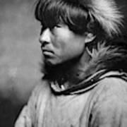 Alaska Eskimo Man, C1906 Art Print