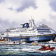 Alaska Ferry Art Print