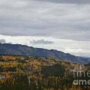 Alaska Highway At Lewes River Bridge  Art Print
