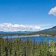 Alaska Highway Steel Bridge Teslin Yukon Canada Art Print
