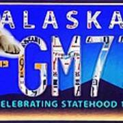 Alaska License Plate Art Print