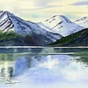 Alaska Mountain Reflections Art Print