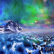 Alaska Northern Lights  Art Print