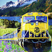 Alaska Railroad Art Print