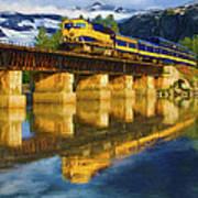 Alaska Railroad Reflections Art Print