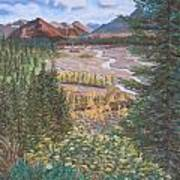 Alaska Range   Early Fall Art Print