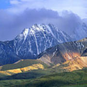 Alaska Range And Foothills Denali Art Print