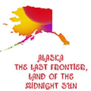 Alaska State Map Collection 2 Art Print