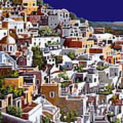 alba a Santorini Art Print