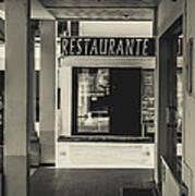 Albufeira Street Series - Restaurante Art Print