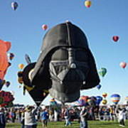 Albuquerque International Balloon Fiesta With Darth Art Print