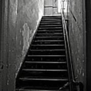 Alcatraz Hospital Stairs Art Print
