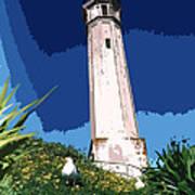 Alcatraz Lighthouse Art Print