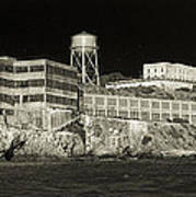 Alcatraz The Rock Sepia 1 Art Print