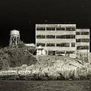Alcatraz The Rock Sepia 2 Art Print