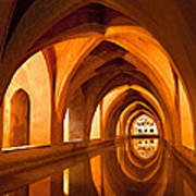 Alcazar Cave Galleries Seville Art Print by Viacheslav Savitskiy