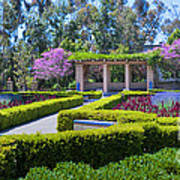 Alcazar Garden Vibrant Color Display Balboa Park Art Print