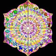 Alchemical Lotus Zodiac Art Print