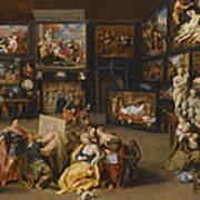 Alexander The Great Visiting The Studio Of Apelles Art Print