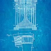 Alexanderson Altenator Patent Art 1911 Blueprint Art Print