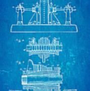 Alexanderson Altenator Patent Art 2 1911 Blueprint Art Print