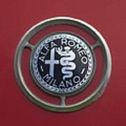 1961 Alfa Romeo Giulietta Sprint Veloce Series II Emblem -1045c Art Print