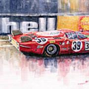 Alfa Romeo T33 B2 Le Mans 24 1968 Galli Giunti Art Print