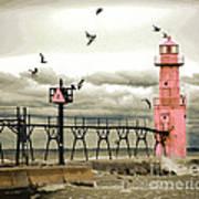 Algoma Pierhead Lighthouse Art Print