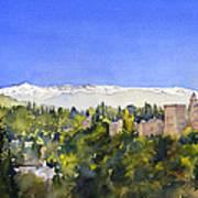 Alhambra Granada Art Print