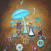 Alice In Wonderland - In Wonder Art Print by Charlene Murray Zatloukal