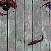 Alice On The Fence Art Print