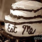 Alice's Eat Me Cake  Art Print